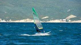 Windsurfing in the Black Sea royalty free stock image