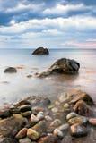 Black sea Coast. Beautiful sunrise in the early morning on the Black Sea royalty free stock image