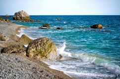 Black Sea Coast. In Crimea royalty free stock photography