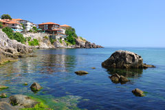 Black Sea coast in ancient town of Sozopol Stock Images