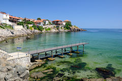 Black Sea coast in ancient town of Sozopol Stock Photo