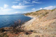 Black Sea coast in autumn, Crimea Stock Image