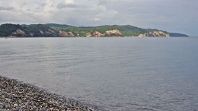 Black sea coast beach wave tide seashore ocean stock video