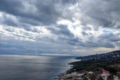 Black Sea Coast. Beautiful Black Sea Coast in crimea stock image