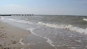 Black Sea coast. Beautiful waves on the Black Sea coast stock video