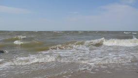 Black Sea coast. Beautiful waves on the Black Sea coast stock footage