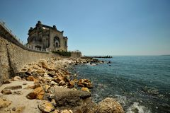 The Black Sea coast with casino ,  Romania Stock Photo