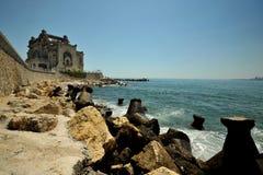 The Black Sea coast with casino ,  Romania Stock Photos