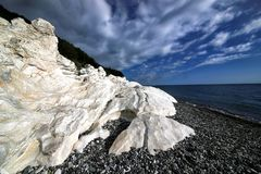 Black Sea coast of the Caucasus. Beach stock image