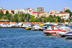 Black sea coast in Constanta city Stock Photo