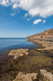 Black sea coast, located on Tarkhankut, Crimea, Stock Photography