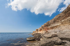 Black sea coast, located on Tarkhankut, Crimea, Royalty Free Stock Photos