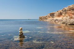 Black sea coast, located on Tarkhankut, Crimea, Stock Photos