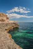Black sea coast, located on Tarkhankut, Crimea, Royalty Free Stock Photo
