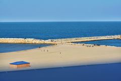 Black sea coast on Modern beach, Constanta. Romania Stock Photography
