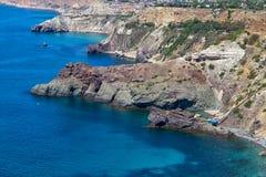 Black Sea coast near the city of Sevastopol Royalty Free Stock Photography