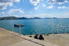 Black sea coast near Koktebel Royalty Free Stock Photos