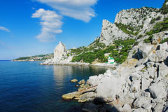 Black Sea coast near the town Simeiz, Crimea Stock Photo