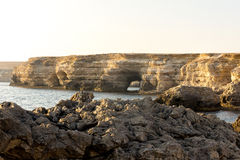 Black sea coast panorama. In Crimea Royalty Free Stock Image