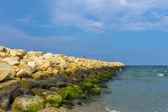 Black sea coast in Romania. Black sea coast in Constanta, Romania stock image