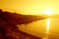 Black Sea coast sunshine Royalty Free Stock Image
