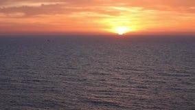 Black sea coast at sunrise stock video footage