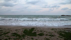 Black Sea coast at sunset stock video footage