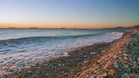 Black Sea coast sunset stock footage