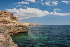 Black sea coast on Tarkhankut, Crimea, Ukraine. Royalty Free Stock Image