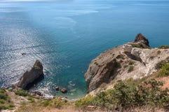 Black Sea Coast, Tsar`s Beach On Fiolent In Sevastopol Royalty Free Stock Photos