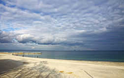 Black sea coast in winter, Odesa, Ukraine Stock Photo
