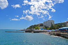 Black Sea Coastline In Alushta, Ukraine Royalty Free Stock Photography