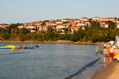 Black sea cost in Bulgaria Royalty Free Stock Images