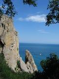 Black sea in Crimea. Sea ond rock on the Crimea stock images