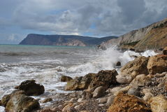 Black Sea in Crimea Stock Image