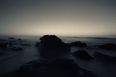 Black sea duotone Stock Photo