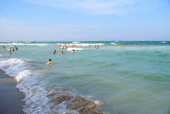 Black Sea at Eforie Nord Beach. Royalty Free Stock Images