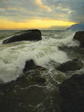 Black sea in the evening. Stock Photography