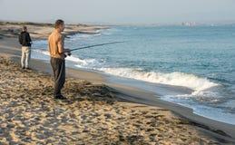 Black Sea fishermen in Pomorie, Bulgaria Royalty Free Stock Images