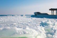 Black Sea fjärd i den bittra förkylningen Royaltyfri Foto