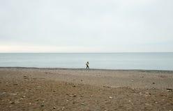 Black Sea flicka i Abchazien Royaltyfria Bilder