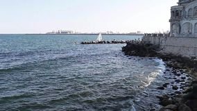 Sea Front Constanta Romania stock video footage