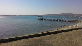 Black Sea Gelendzhik pir folk Yacht Arkivfoton