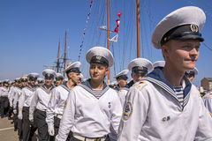 Black Sea högväxt skeppregatta 2016, Constanta, Rumänien arkivfoton