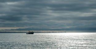 Black Sea i Abchazien Arkivfoto