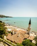 Black Sea i Balchik Royaltyfri Bild