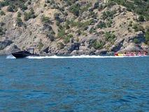Black Sea kust av Krim Royaltyfri Foto