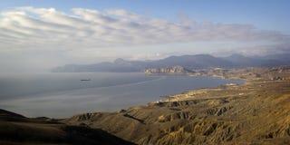 Black Sea kust av Krim, Ukraina Arkivfoton