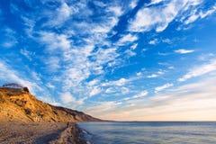 Black Sea kust i Anapa Royaltyfri Bild