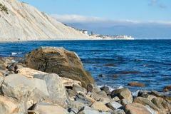 Black Sea kust Ryssland arkivfoto
